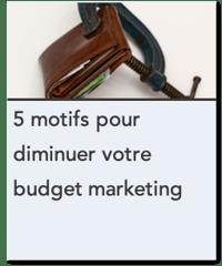 5 motifs pour diminuer votre budget marketing